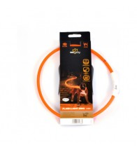 DUVO SEECURITY COLLAR LED NYLON REDONDO NARANJA
