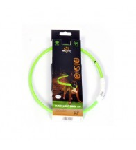 DUVO SEECURITY COLLAR LED NYLON REDONDO VERDE