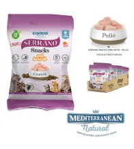 MDT SERRANO SNACK GATOS POLLO Y ANTI HAIRBALL