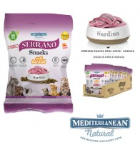 MDT SERRANO SNACK GATOS SARDINA Y ANTI HAIRBALL