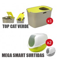 LOTE MP SURTIDO 3 UNI ( 1 TOP CAT VERDE 2 MEGA SMART SURTIDAS )